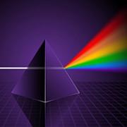 Descompunerea luminii folosind prisma optica